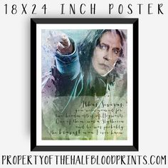 SNAPE WATERCOLOR Poster