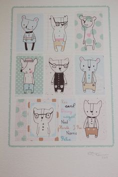 Nicola Pearson - Based in Manchester UK. Creates a number of children print illustrations.