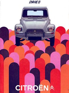Citroën Dyane 6 Op Art Ad by ladconcord Vintage Graphic Design, Graphic Design Posters, Graphic Design Illustration, Graphic Design Inspiration, Typography Design, Web Design, Design Art, Print Design, Logo Design