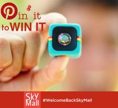 PIN IT TO WIN IT! We're giving away 3 $500 SkyMall Gift Cards to our Pinterest Fans!   For a chance to WIN: REPIN this PIN! #WelcomeBackSkyMall