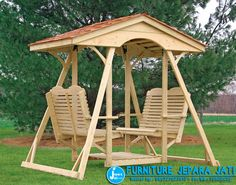 Double face to face swing for the backyard. Outdoor furniture I really want one of these.