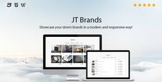 JT Brands . Showcase your store's brands in a modern and responsive