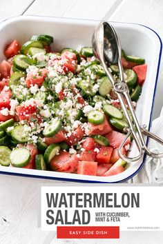 Low Unwanted Fat Cooking For Weightloss Refreshing And Delicious Watermelon Salad Perfect For Bbqs And Potlucks. Easy Appetizer Recipes, Easy Salad Recipes, Soup Recipes, Vegetarian Recipes, Chicken Recipes, Dinner Recipes, Healthy Recipes, Potato Recipes, Casserole Recipes