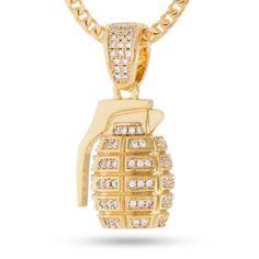 Rolls royce bar pendant sterling silver paradise 14k gold cz hand grenade necklace jewelry aloadofball Gallery