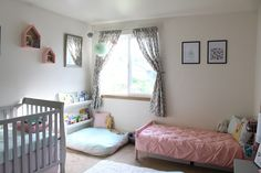 Baby and toddler shared room- it IS possible!