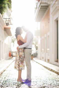 Today I had a dreamy engagement session at Old San Juan with a dreamier couple. <3