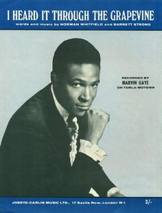 "Marvin Gaye ""I Heart It Through the Grapevine"" (1968) — British Sheet Music"