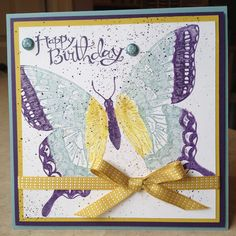 Catherine Loves Stamps: Swallowtail, Sassy Salutations, Color Spritzer Tool