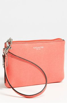 254f87e864ca COACH  Small  Leather Wristlet available at  Nordstrom Coach Purses