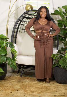 Big Girl Fashion, Earth Tones, Skirt Set, Zipper, Medium, Long Sleeve, Model, How To Wear, Clothes