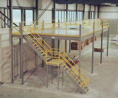 Is Mezzanine Flooring? What Is Mezzanine Flooring?What Is Mezzanine Flooring? Mezzanine Bedroom, Mezzanine Floor, Lofts, White Contemporary Kitchen, Garage Atelier, Industrial Sheds, Warehouse Design, Warehouse Office, Kb Homes