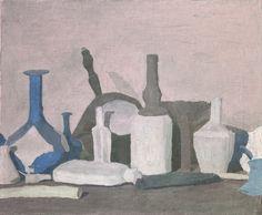 Giorgio Morandi, Natura morta con oggetti in viola, 1937, olio su tela. Fondazione di Studi di Storia dell'Arte Roberto Longhi, Firenze