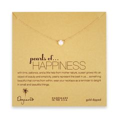 Dogeared Pearls of Happiness gold-dipped necklace