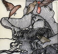 "Meet feeling stitchy Contributor Penny (Penny Nickels) | Donkeywolf | This Is Handmade  Penny Nickels is a printmaker that started playing with needles with tremendous effect. She and her husband, Johnny Murder, have been described as the ""Bonnie and Clyde of Contemporary Embroidery"". She writes about needlework history for MrXStitch.com and her work has been published in Fiberarts Magazine Summer 2011, PUSH Stitchery: 30 Artists Explore the Boundaries of Stitched Art by Jamie Chalmers, and…"