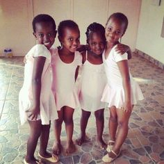Picture of the Day, beautiful Rwandan ballerinas. Courtesy of Ms Phia of the Black Venus. My people.