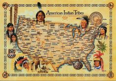 American Civil War Maps -                                                                                          American Indian Tribes Map