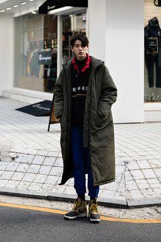 Woo Jinkyung, Street style men winter 2017 in seoul