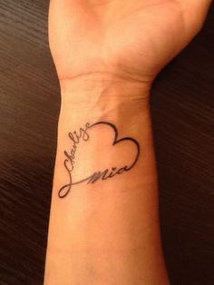 Love This Tattoo Perfect For Childrens Names Tattoo Pinterest