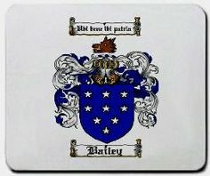 $11.99 Bailey Family Shield / Coat of Arms Mouse Pad