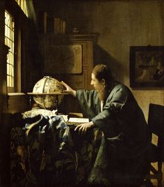 The Astronomer, 1668 oil on canvas  by Johannes Vermeer