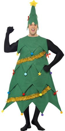 Deluxe Green Christmas Tree Fancy Dress Costumes With Tinsel Detail And Matching Hat With Star. Great Fun For Dressing Up At Christmas And Christmas Parties. Mens Christmas Costumes, Christmas Tree Costume, Costume Garçon, Boy Costumes, Christmas Tree Fancy Dress, Party Props, Party Ideas, Santas Workshop, Monster Party