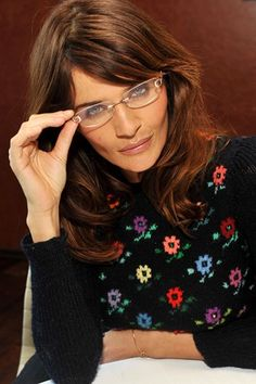 Helena Christensen in spectacles