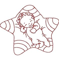 Baby in a star quilt block pattern