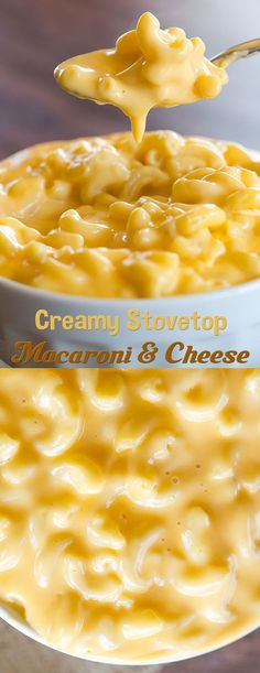 Creamy Stovetop Macaroni and Cheese This is a sauce heavy mac n cheese. I also added some ground mustard to the sauce