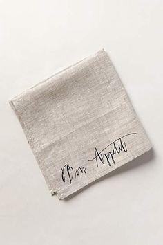 Bon Appetit Napkin - anthropologie.com
