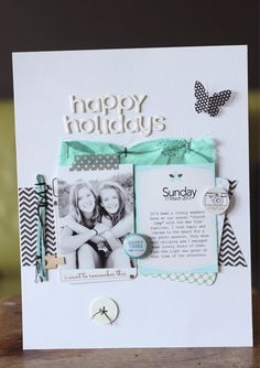#papercraft #scrapbook #layout    Challenge layout