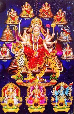 Navdurga and Saraswati Lakshmi Kali