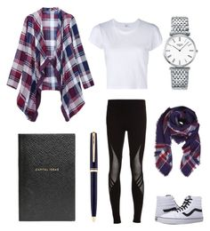"""""""Searching for a Story."""" by sanestyle ❤ liked on Polyvore featuring Y-3, Vans, Smythson, Montblanc, RE/DONE, Humble Chic and Longines"""