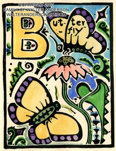 Love Walter Anderson! _ I would love the alphabet framed for Savannah