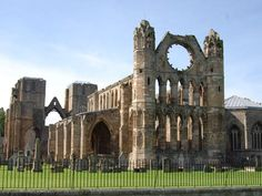 Elgin Cathedral  The superb remains of a majestic and beautiful 13th century cathedral. Almost destroyed in 1390 by Alexander Stewart, the infamous 'Wolf of Badenoch'.