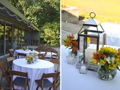 Greatest Story Events | Black and White and String Lights - Wedding Anniversary Party featuring pottery barn lanterns and votives