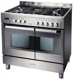 Electrolux EKM90460X 90cm Stainless Steel Dual Fuel Double Oven Range Cooker