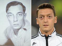 ¡Volvió a Nacer! Mesut Ozil es un jugador clave en la selección de Alemania y su gemelo, el actor Buster Keaton, fue una de las estrellas en la época de oro de Hollywood.
