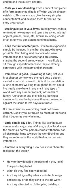 Worldbuilding Advice: 4