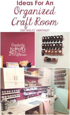 Ideas for and Organized Craft Room. Tips for organizing your craft room!