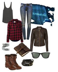 """Winchester"" by jessicaonepiece ❤ liked on Polyvore featuring LnA, Ray-Ban, Anine Bing, rag & bone, Steve Madden, Rustico, Chicnova Fashion and Vero Moda"