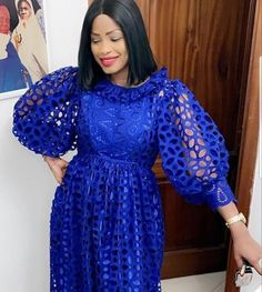 Royal blue, long gown. You can wear this to party or church.
