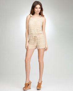 bebe Crochet Romper $119.00