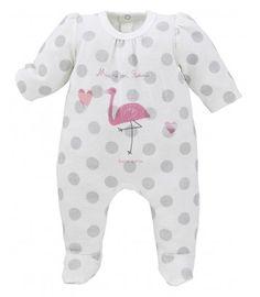 PYJAMA ECRU/GRIS - Pyjamas, dors-bien, grenouilleres - VETEMENTS : Bébé – Sucre d'Orge