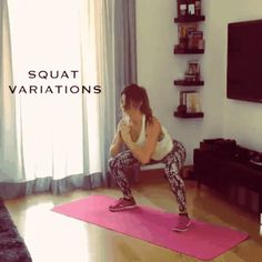 Double tab for this great squat variations 😊🙌 Credit: Fitness Workouts, Butt Workout, Fitness Tips, Body Fitness, Health Fitness, Squat Variations, Excercise, Workout Programs, Squats