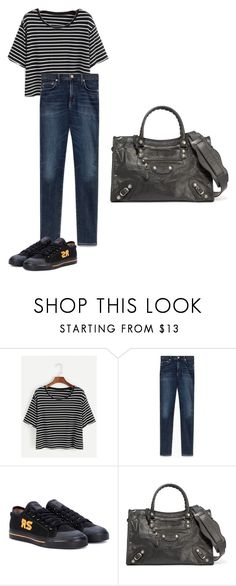"""""""Monday"""" by pvzhang on Polyvore featuring Waverly, adidas and Balenciaga"""