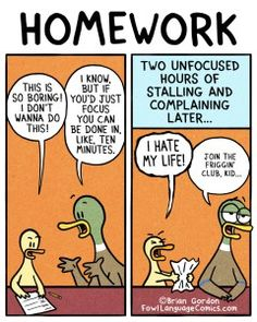 this is exactly how homework time works