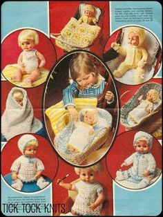 """No.5 PDF #Vintage #Knitting AND Crochet #Pattern 12"""", 14"""", 16"""" Dol, LINK: http://www.zeppy.io/product/us/3/82291384/…"""