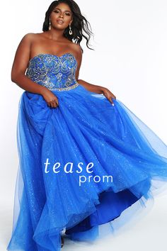 fdfcaf419e6 Tease Prom Look as gorgeous coming as going at this Prom 2018 in this  sleeveless ballgown that splashes sparkle tulle over satin.
