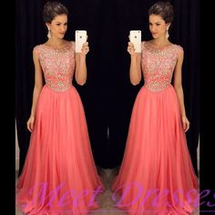 Charming Prom Dresses 2016 New Fashion Cora Chiffon Evening Dress With Cap Sleeves Silver Beaded A Line Party Gown For Teens - Thumbnail 2