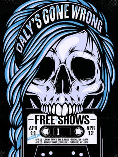 Daly's Gone Wrong April Gig Poster on Behance